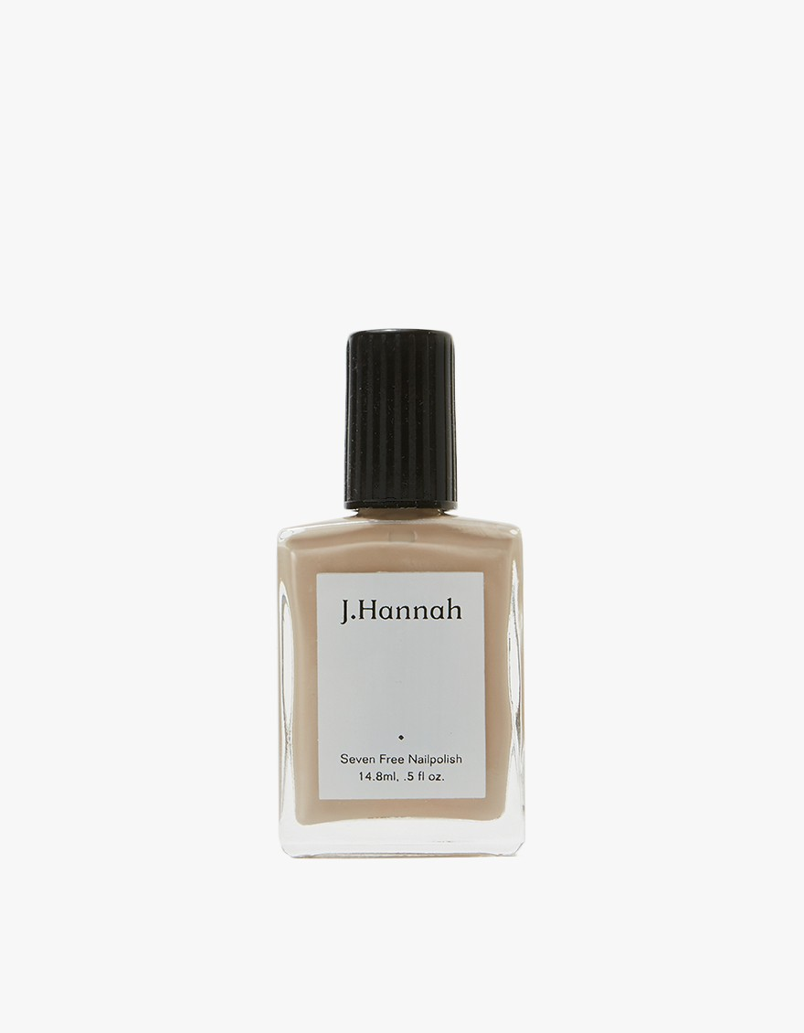 J. HANNAH Chanterelle Nail Polish  Subtly colored nail polish from J. Hannah in Chanterelle. Color is an earthy greige. Highly pigmented. Shine finish. Not tested on animals.