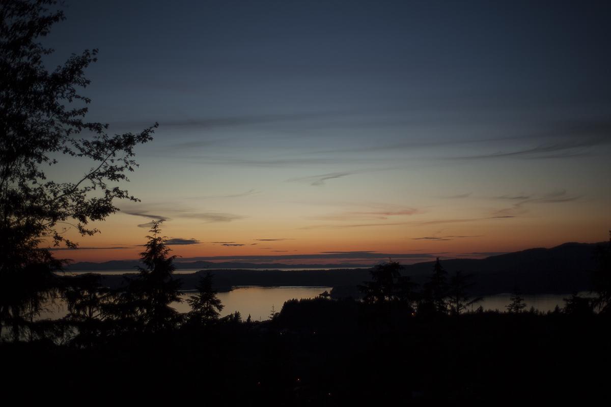 The night before the ferry ride to Haida Gwaii.