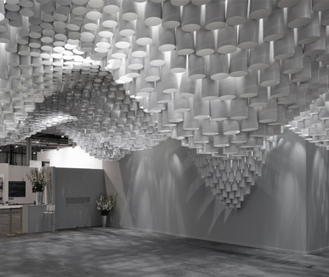 Cristina Parreño Architecture worked with a team from the Massachusetts Institute of Technology to create the Paper Chandeliers installation in the VIP area of ARCOMadrid.