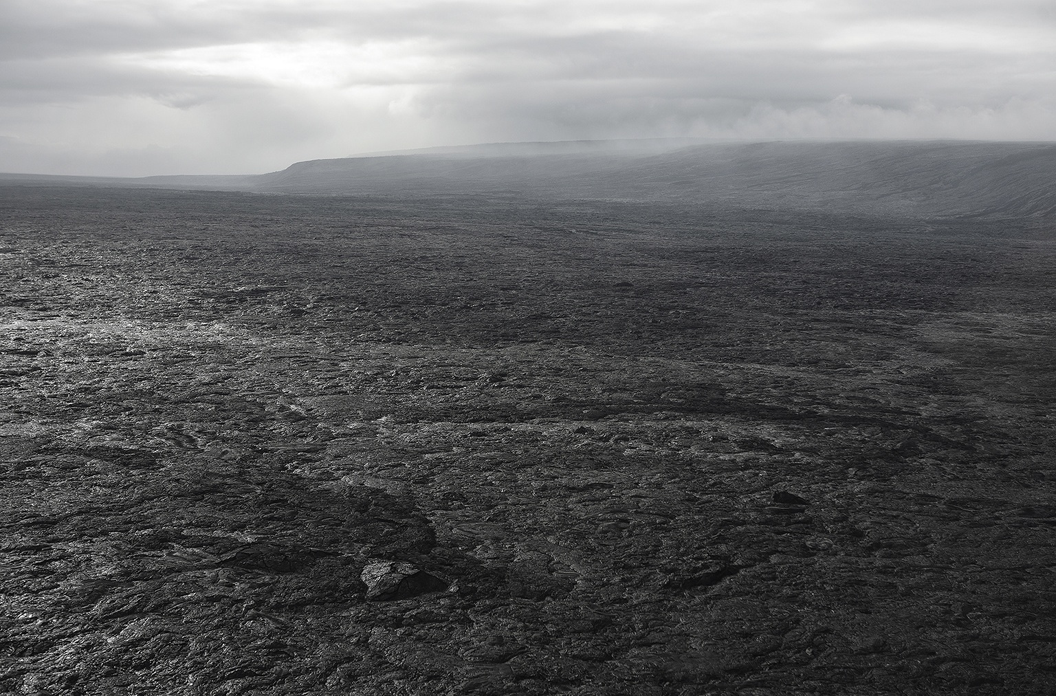 Monochrome stormy landscape