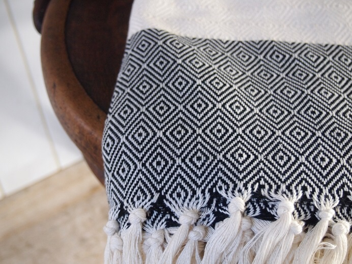 Checked Turkish Cotton Blanket