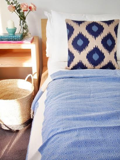 Checked Turkish Cotton Blanket
