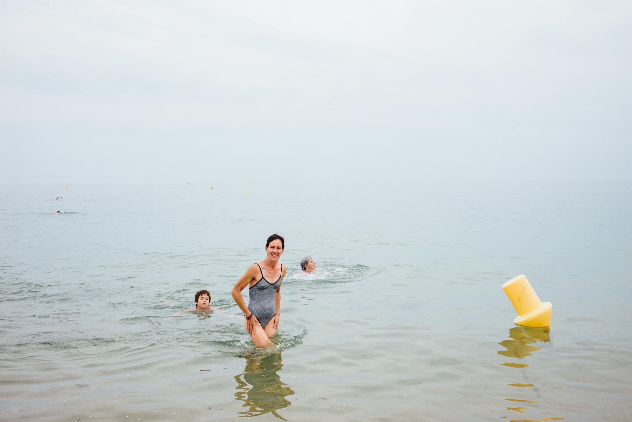 Trois générations à l'eau