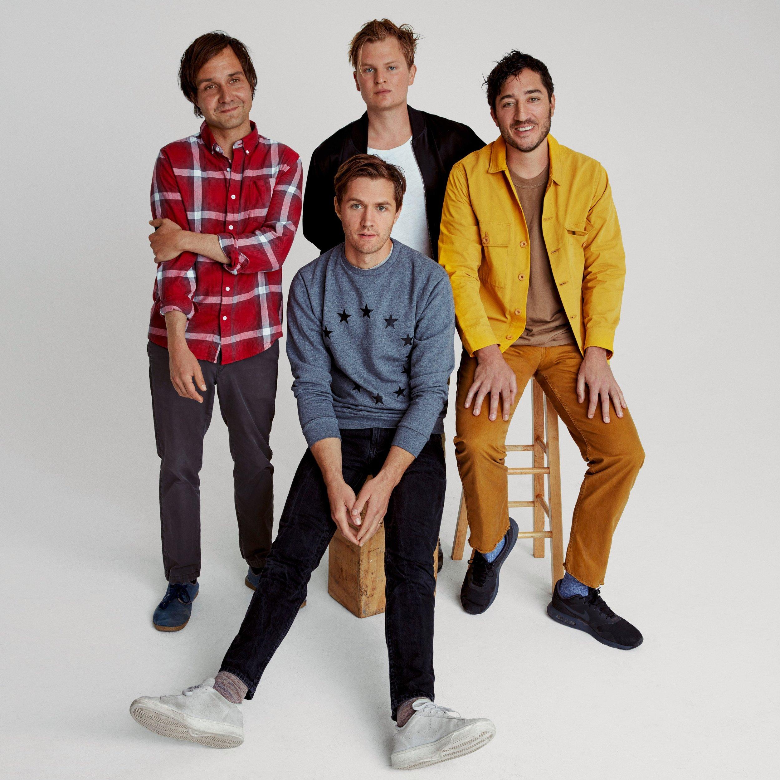 Le groupe Grizzly Bear (de gauche à droite) : Daniel Rossen, Chris Bear, Chris Taylor et Edward Droste.