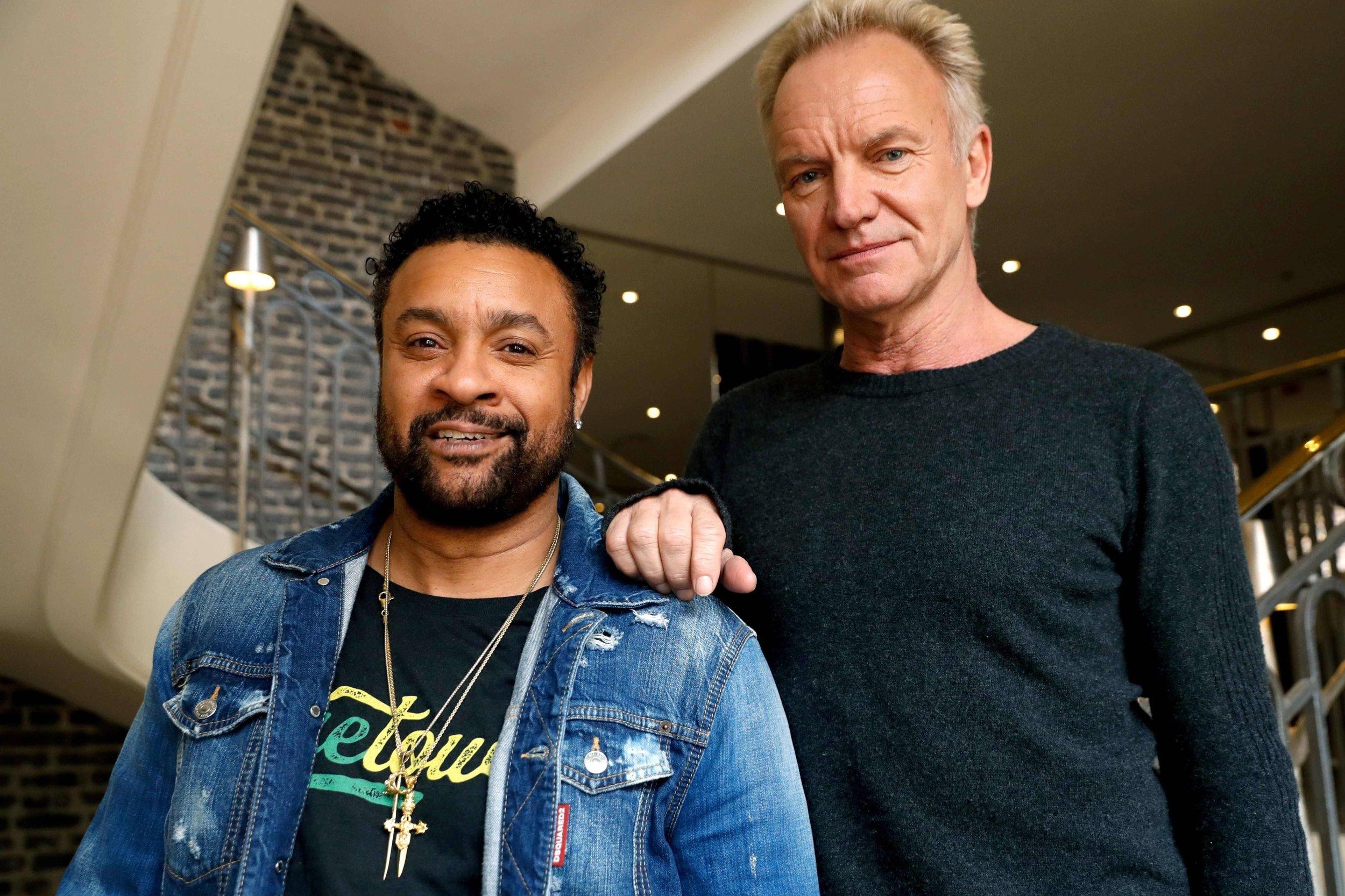 Shaggy et Sting ont combiné leurs différences avec un plaisir évident. Photo AFP