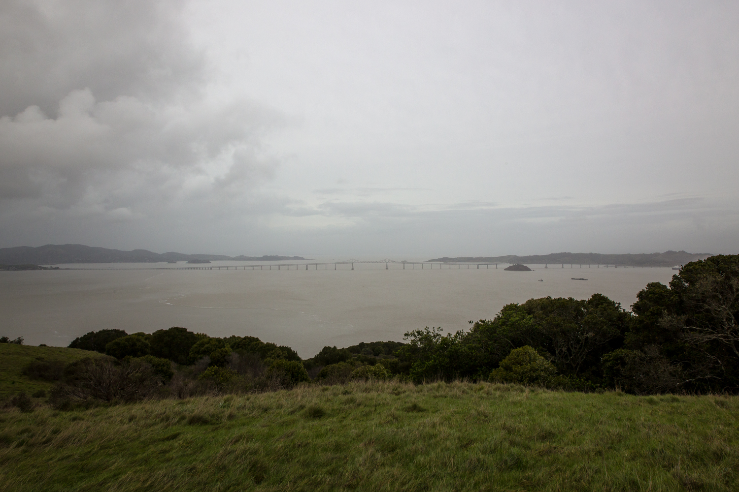 Tiburon hike just when it started to rain