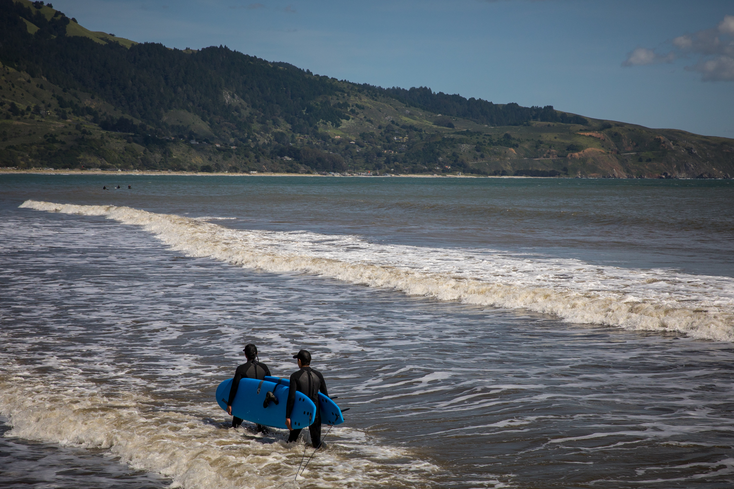 Surfers in Bolinas