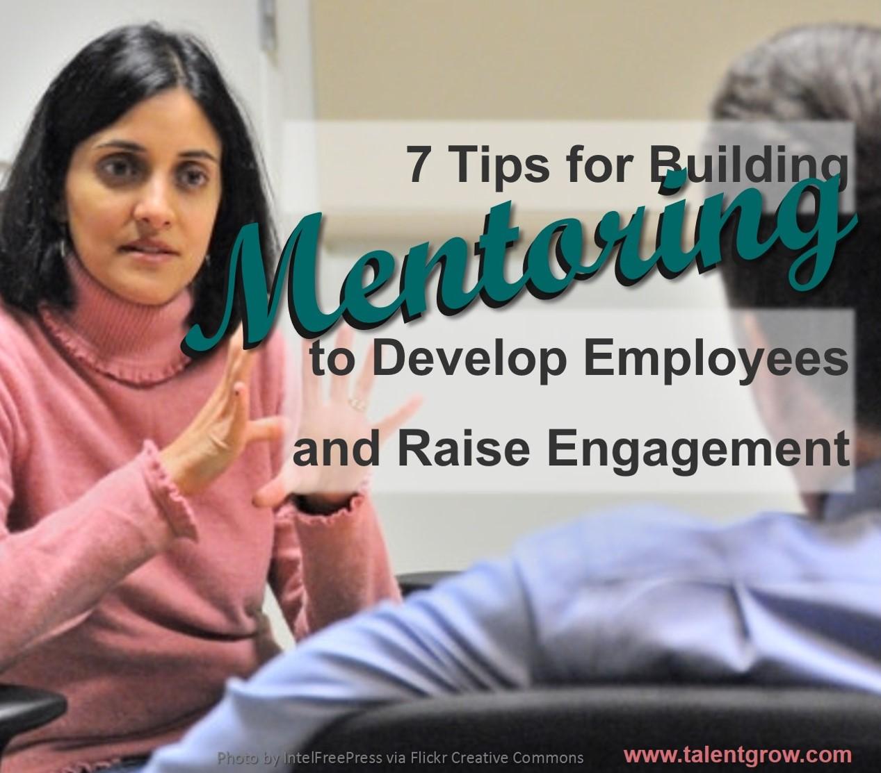 7 tips for building mentoring