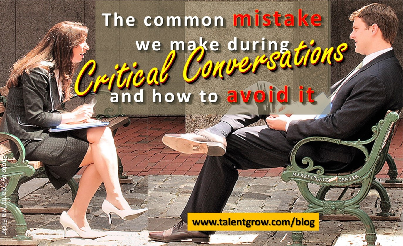 Critical Conversations Mistake
