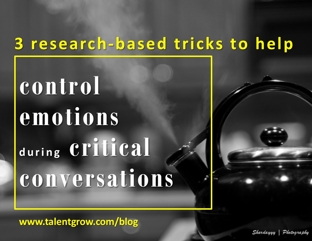 3 tricks to control emotions during critical conversations