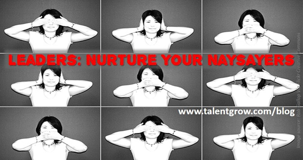 Leaders nurture your naysayers and avoid CEO Disease