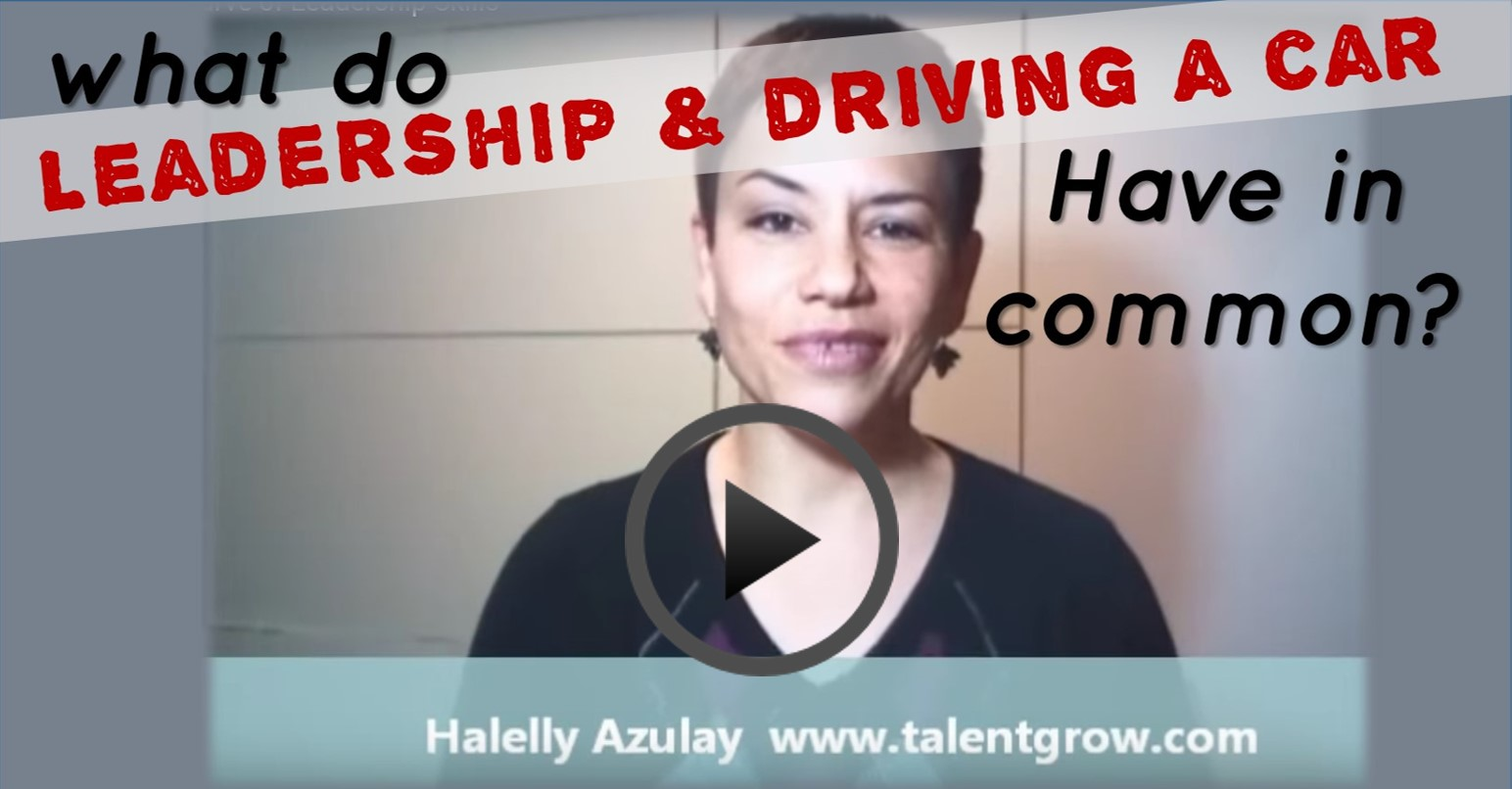 Halelly Azulay TalentGrow vlog what do leadership and driving a car have in common the learning curve of leadership