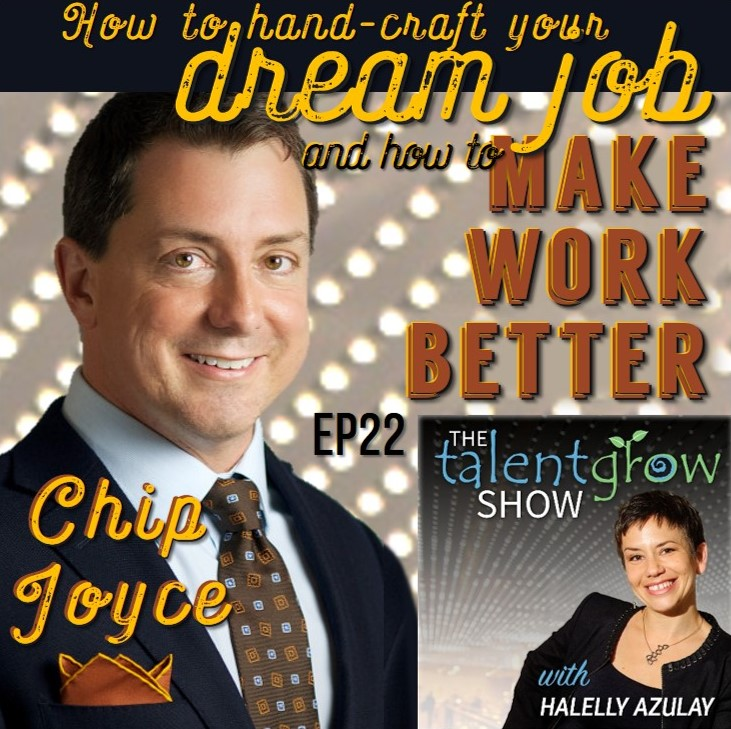 How to handcraft your dream job and how to make work better with Chip Joyce on the TalentGrow Show podcast by Halelly Azulay