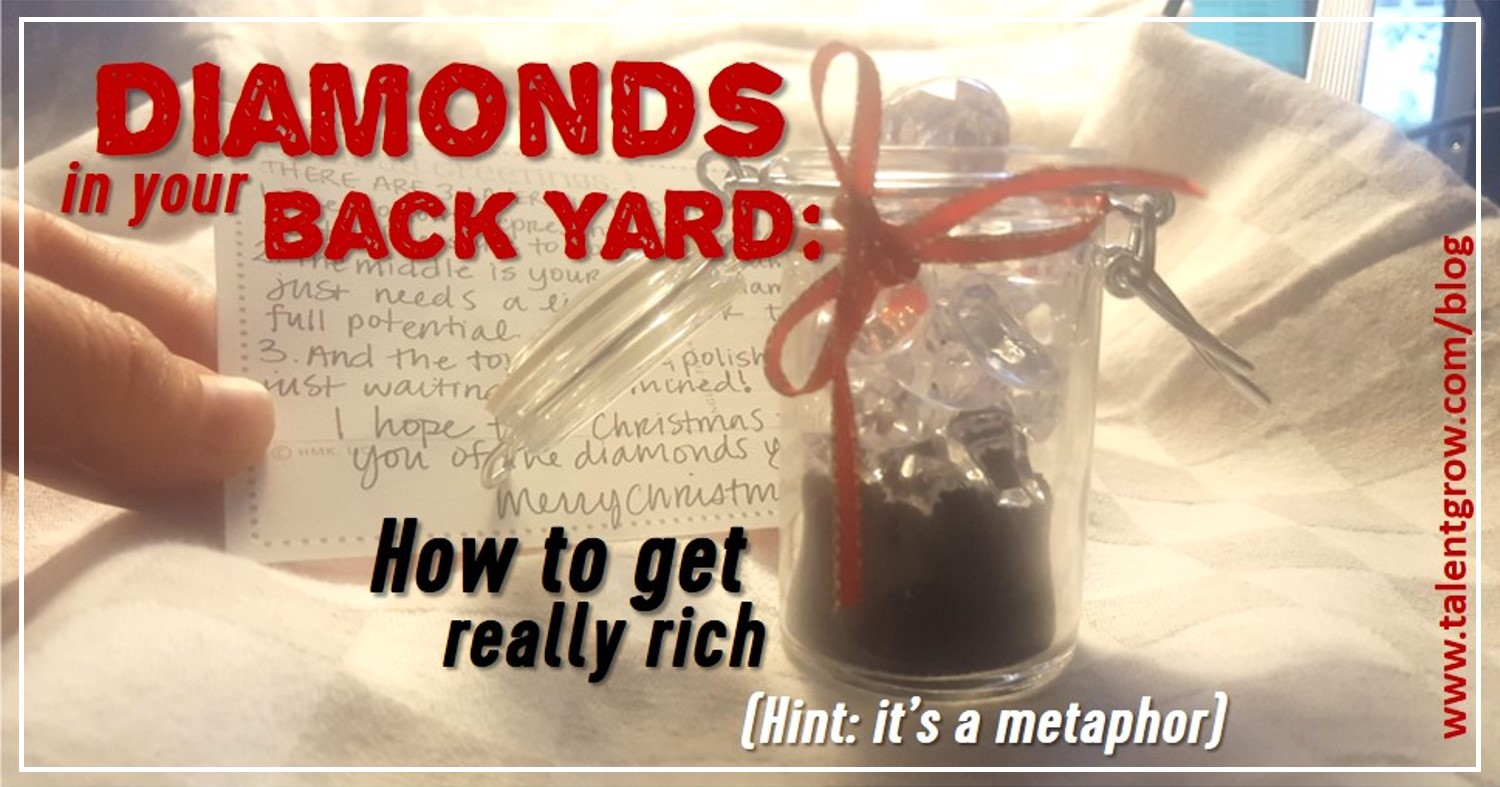 Diamonds in your back yard how to get really rich hint its a metaphor Halelly Azulay TalentGrow blog