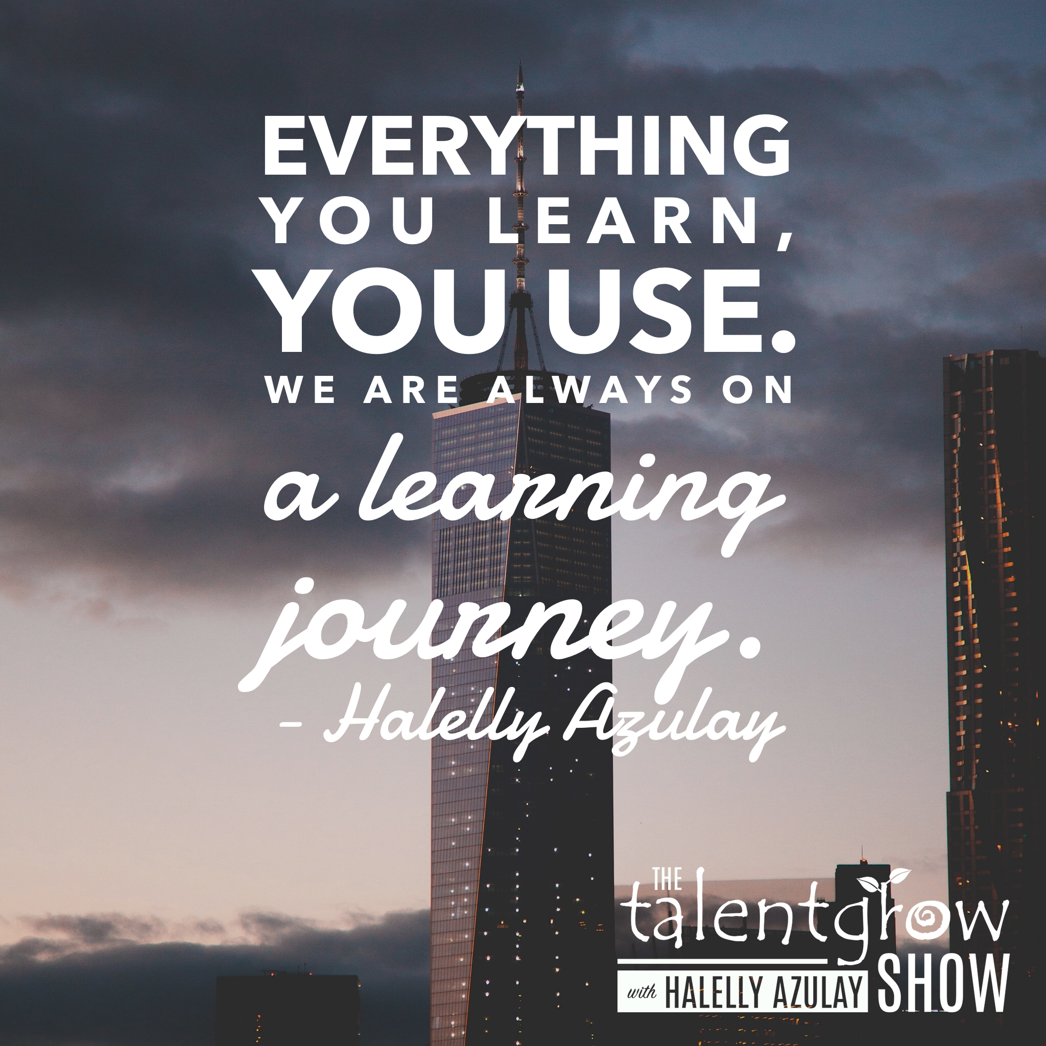 Career advice from Halelly Azulay on the TalentGrow Show podcaast