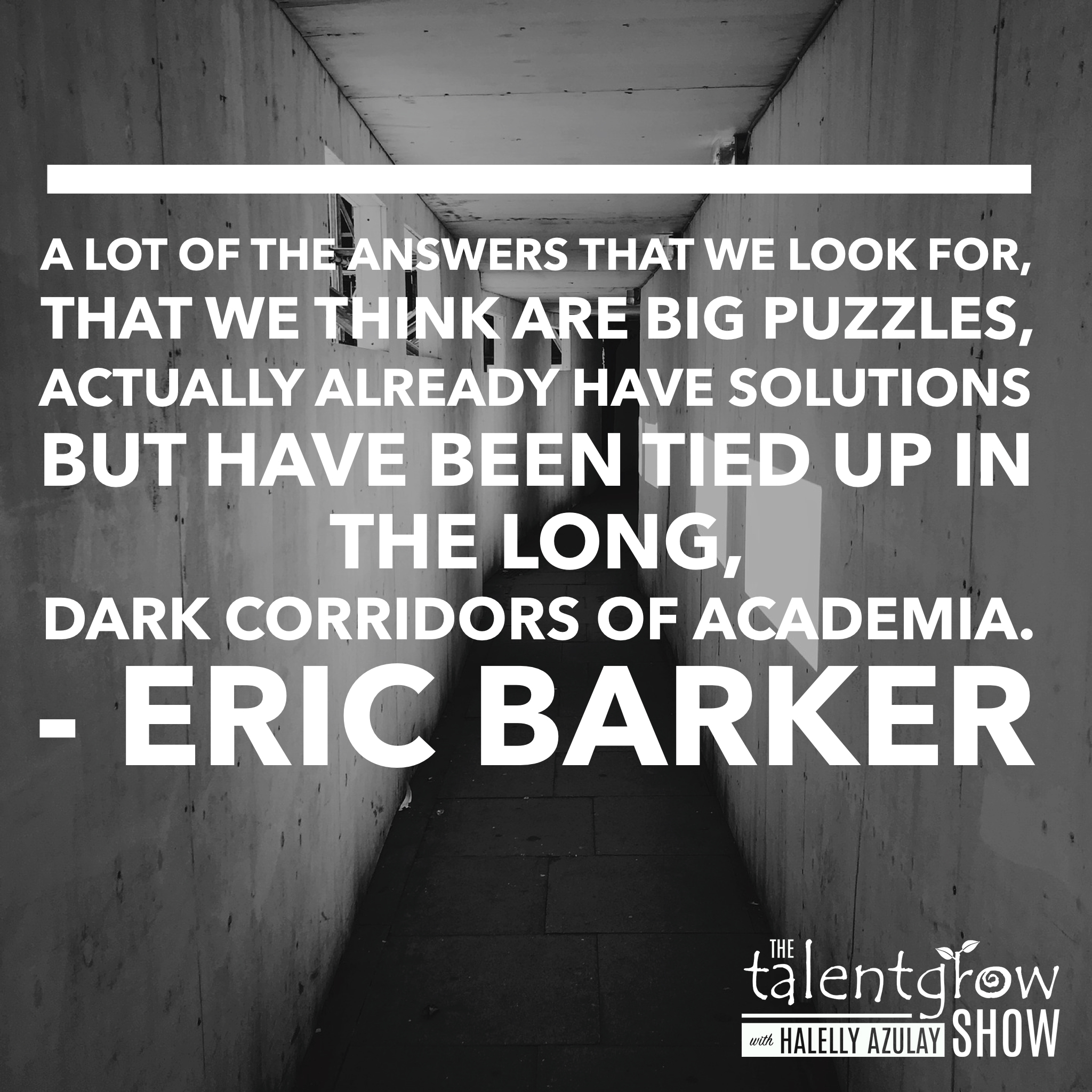 Career success tips from Eric Barker on the TalentGrow Show podcast with Halelly Azulay