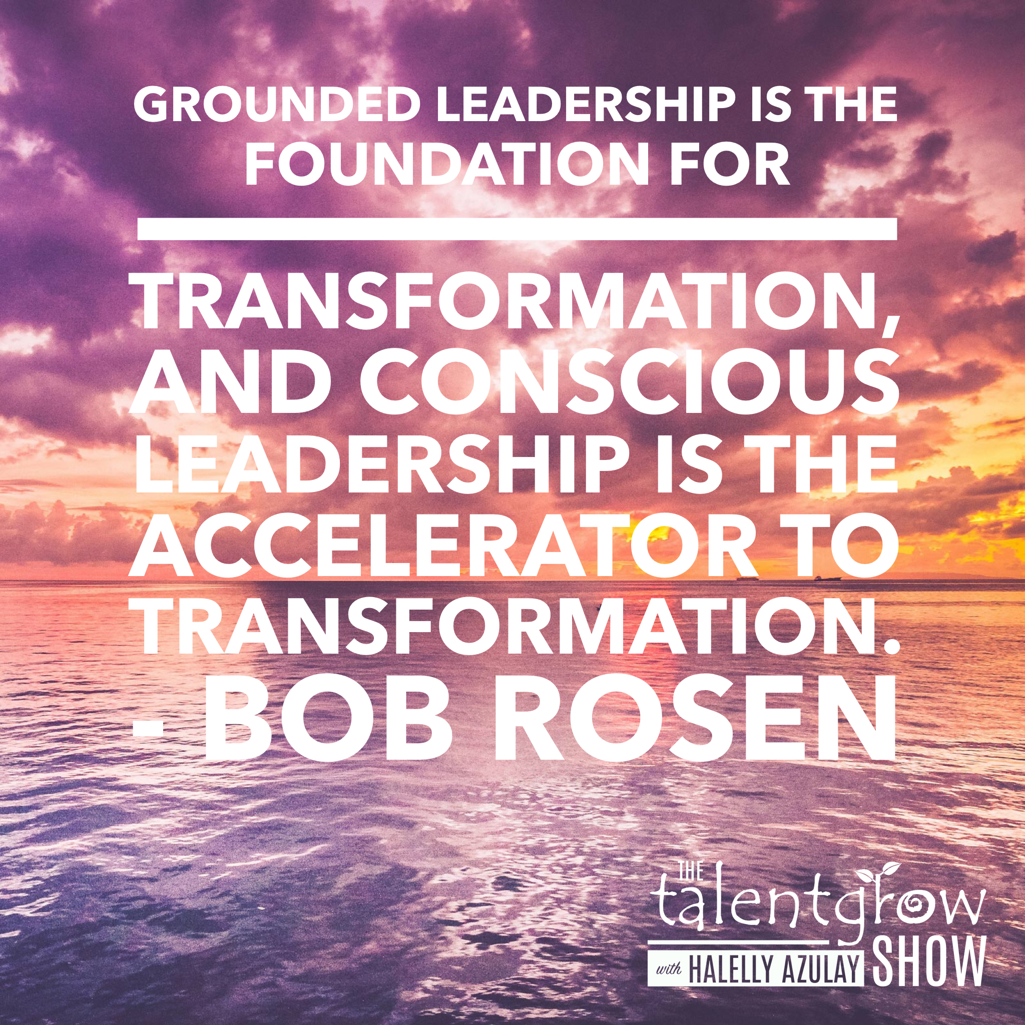 Grounded leadership tips from Bob Rosen on the TalentGrow Show podcast with Halelly Azulay