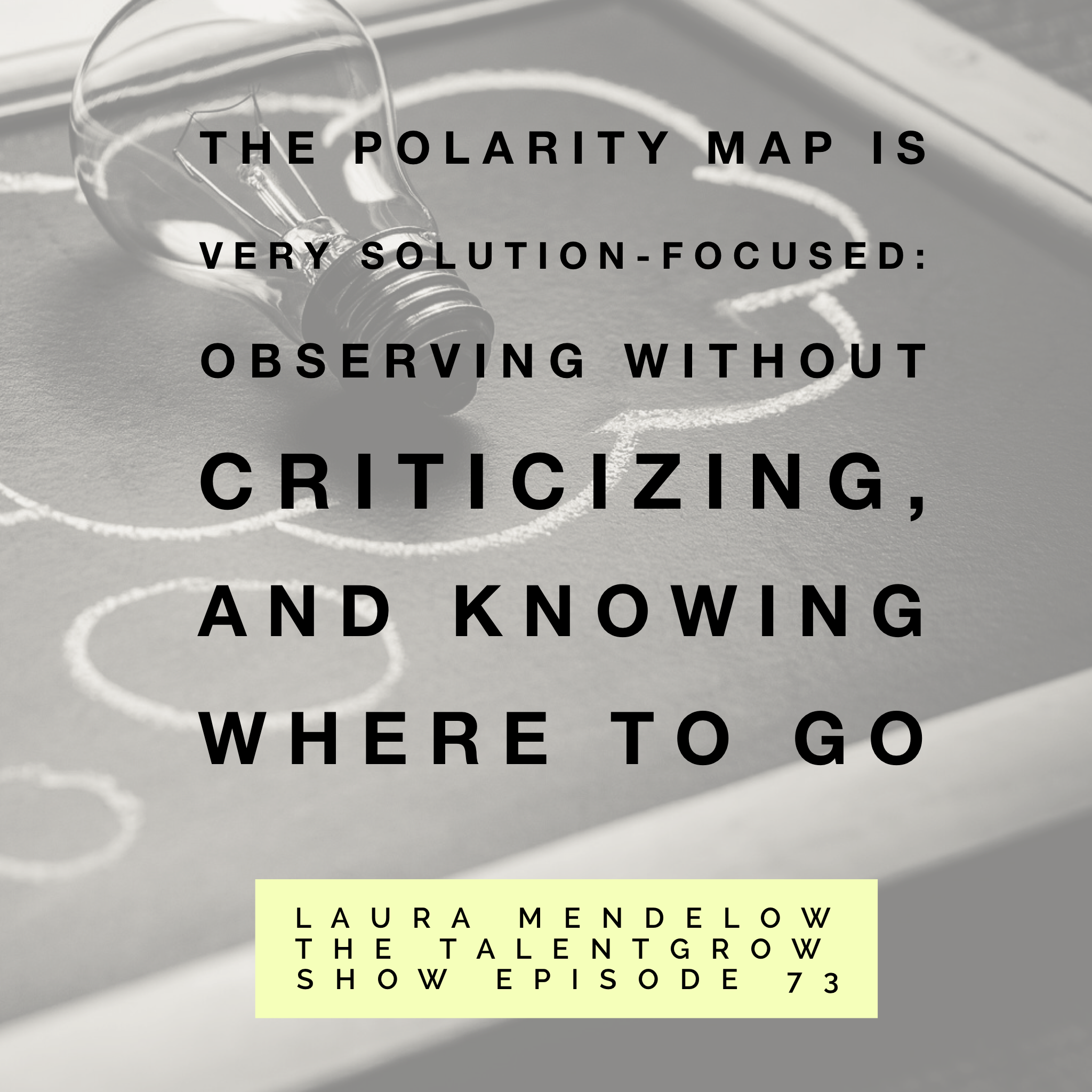 73: How to become a better leader by using Polarity Thinking with Laura Mendelow on the TalentGrow Show podcast with Halelly Azulay