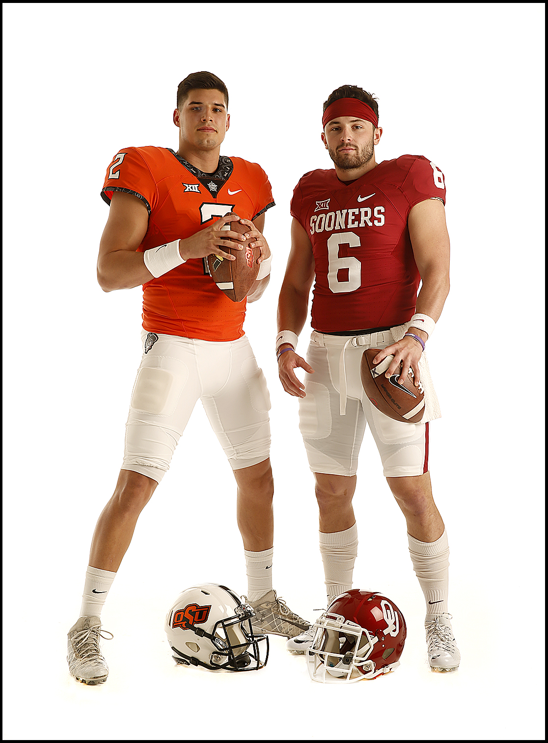 Mason Rudolph/Oklahoma State and Baker Mayfield/Oklahoma  | Oklahoma City