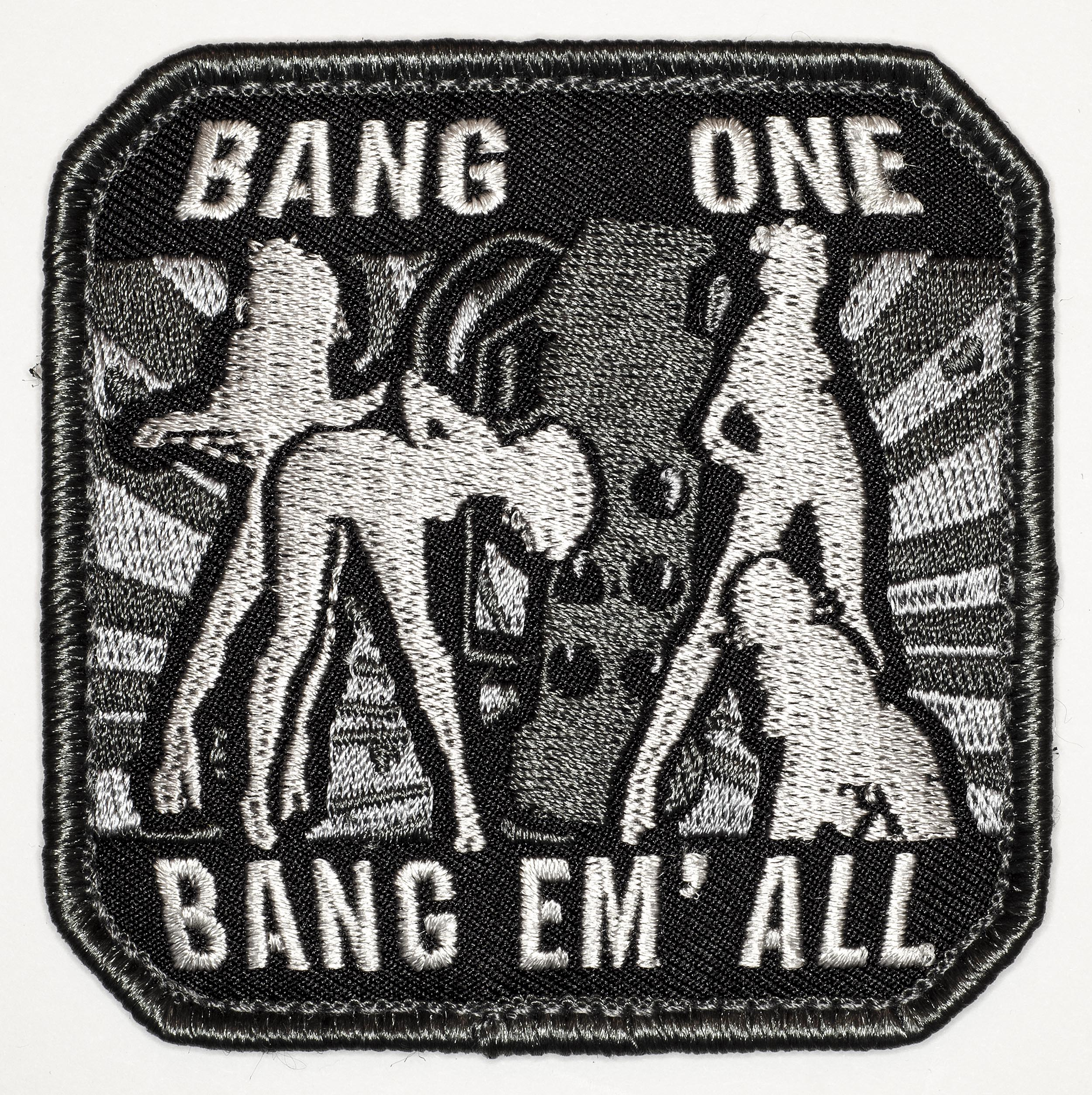 "Bang One, Bang Em' All, 2016, Archival Pigment Print, 24""x24"""