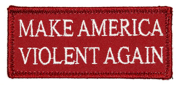 "Make America Violent Again, 2016, Archival Pigment Print, 17""x36"""