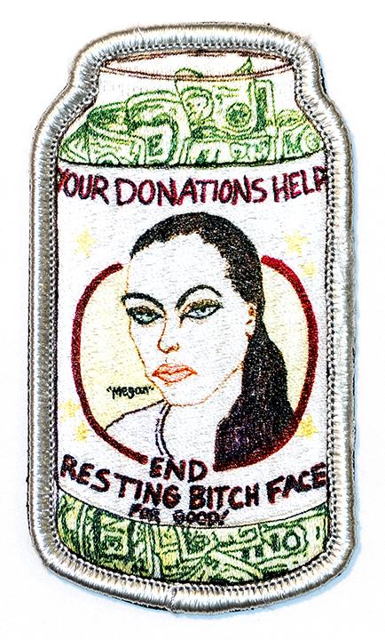 "Resting Bitch Face, 2019, Archival Pigment Print, 22"" x 36"""