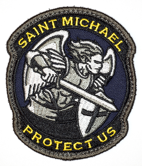"""Saint Michael Protect Us, 2016, Archival Pigment Print, 24""""x28"""""""