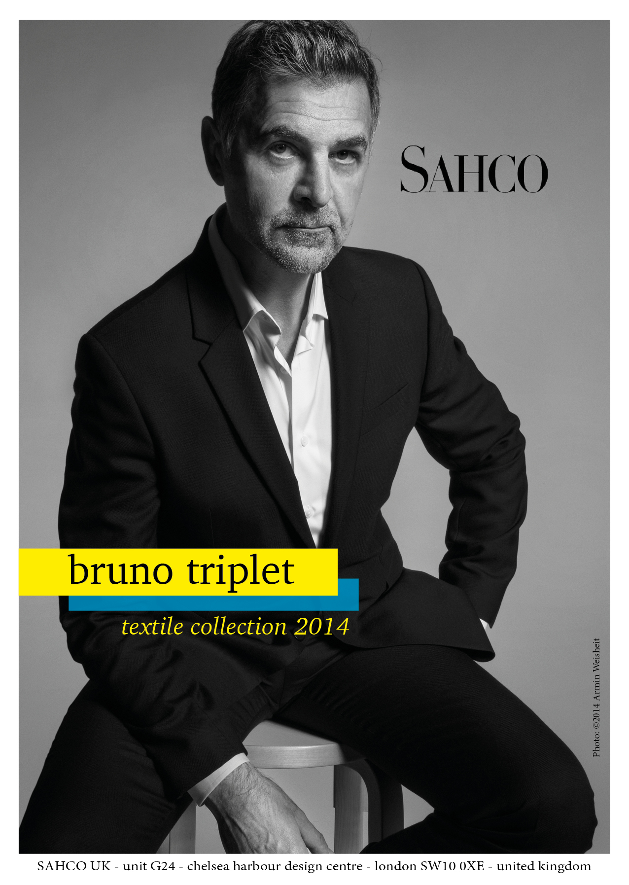 Today I had a great photo shoot with Bruno Triplet. The photographs are used to promote his new  texture and fabric collection.