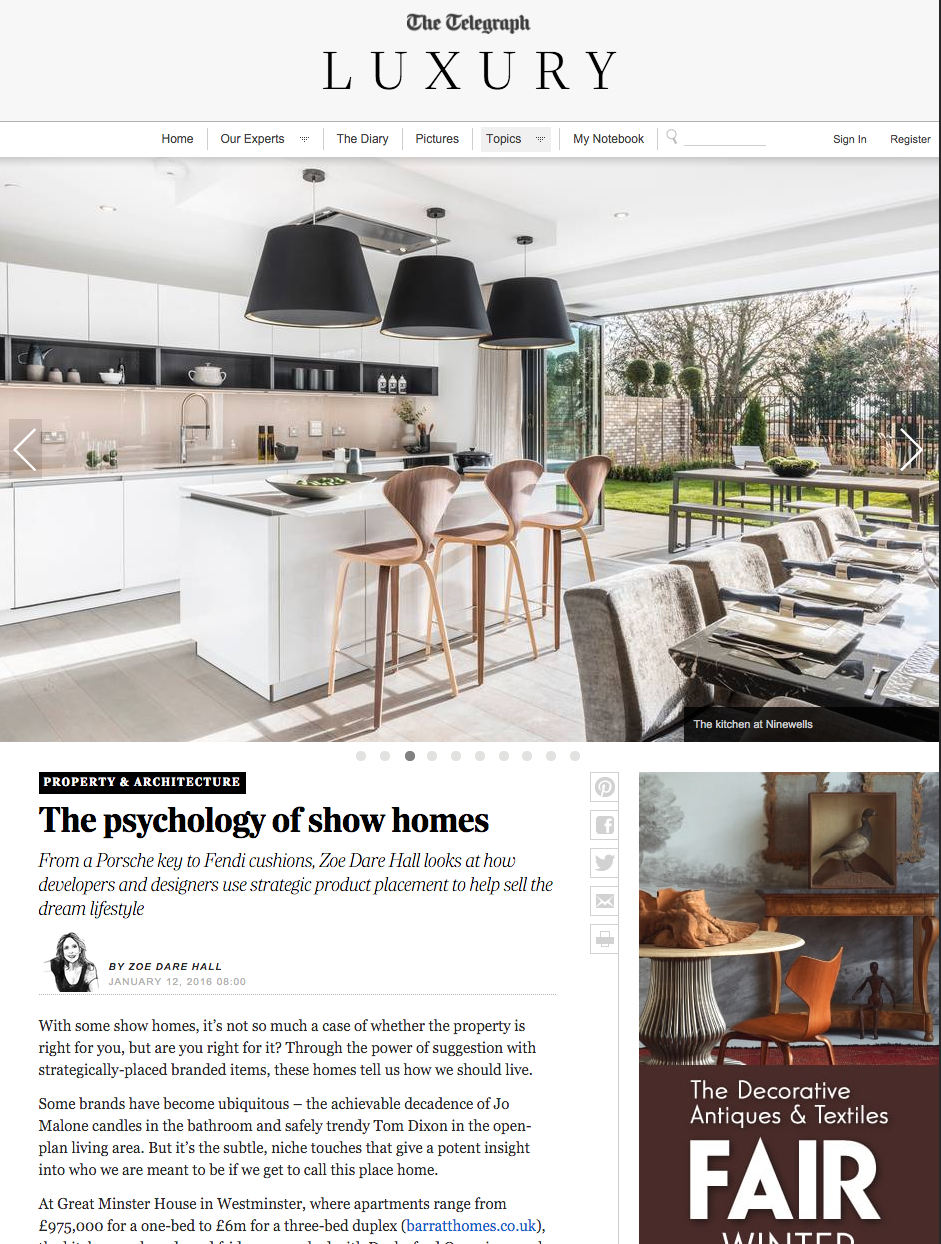 Interior Photography featured in The Telegraph Luxury Section
