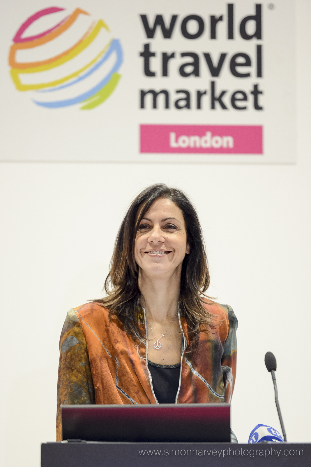 Julia Bradbury - Talking at the World Travel Market 2016