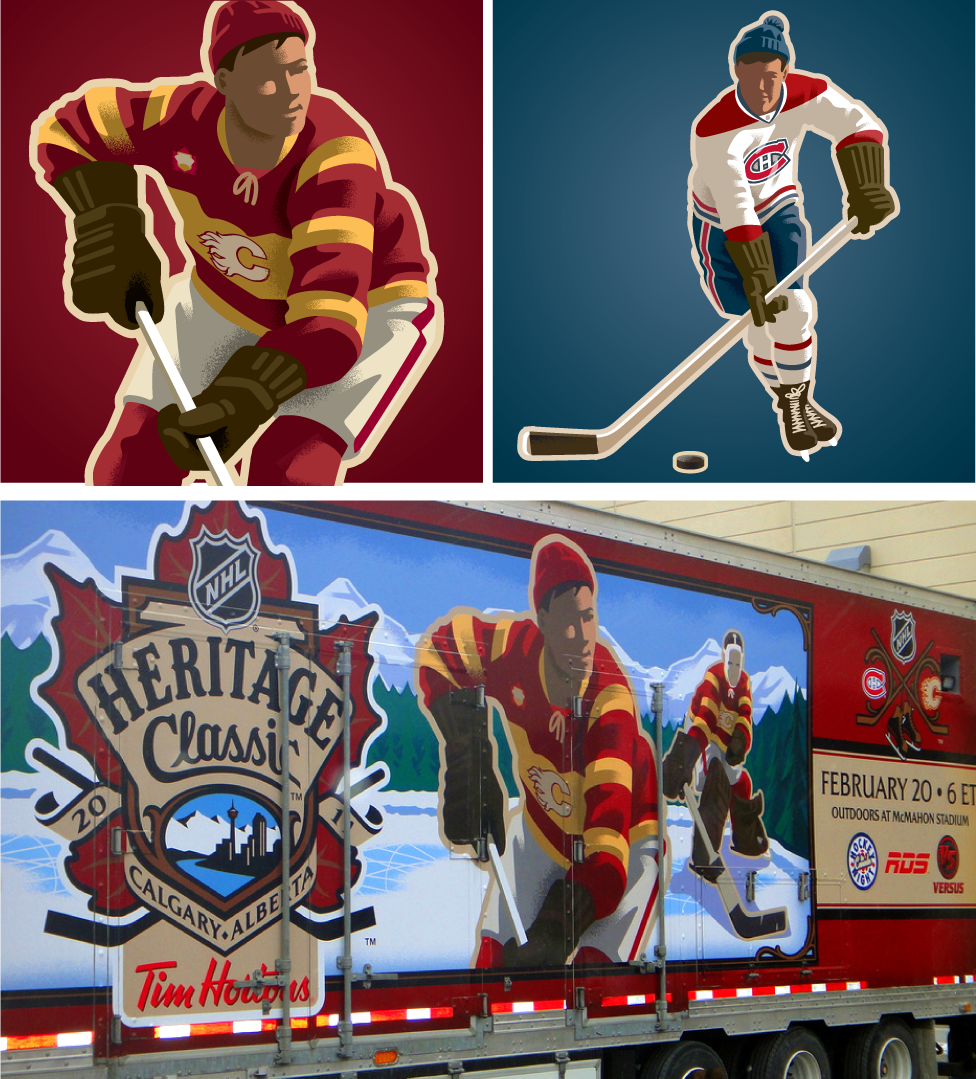 2011 Player Art featured at the Heritage Classic
