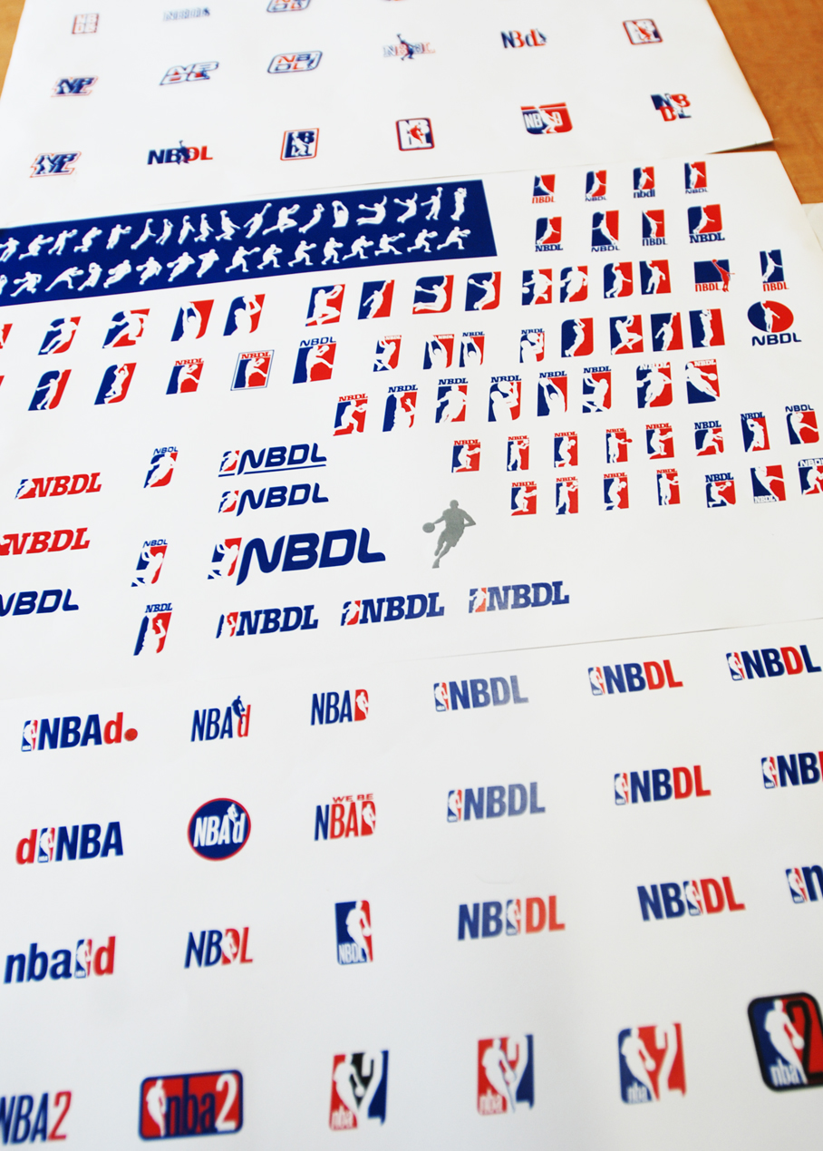 Some exploratory designs we completed in the early stages of the D-League's branding development.