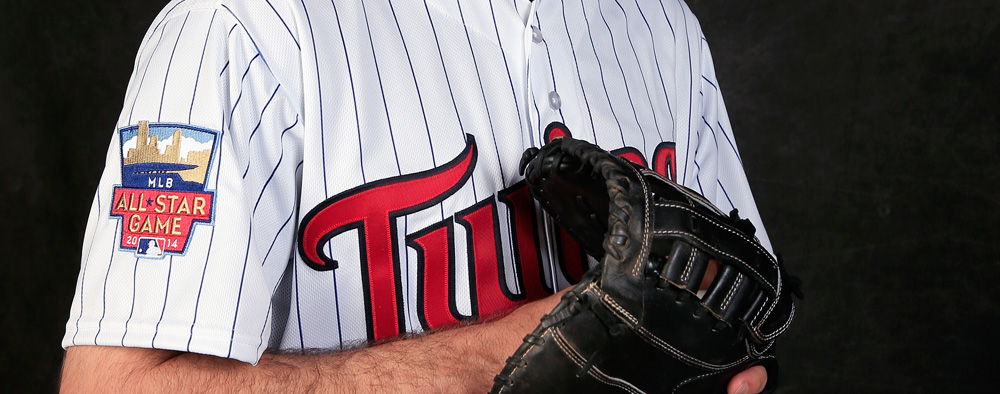 For the 2014 season, the Twins' uniforms with feature the All-Star patch.