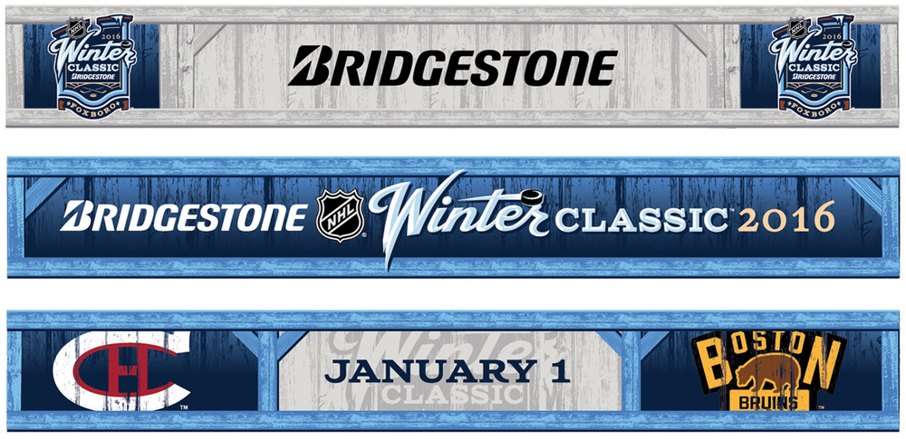 Winter Classic Press Event Unveiling Banners
