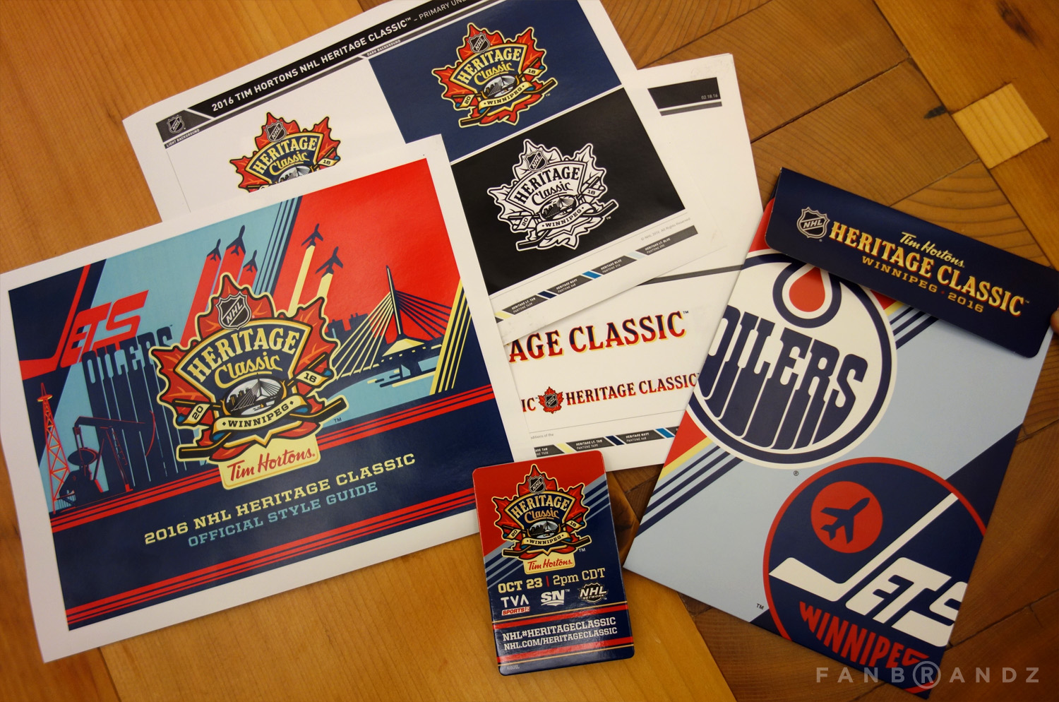 Final Heritage Classic style guide and print samples