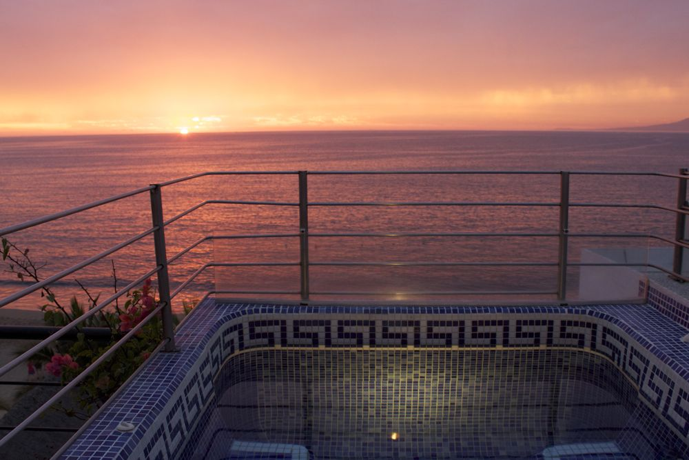 rooftop Jacuzzi at sunset