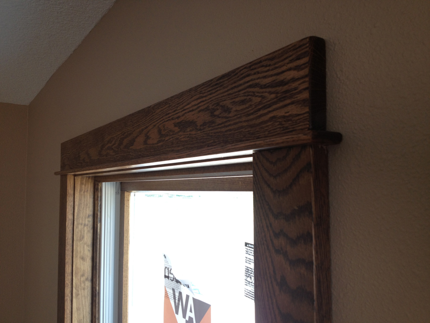 Solid oak trim throughout the house.