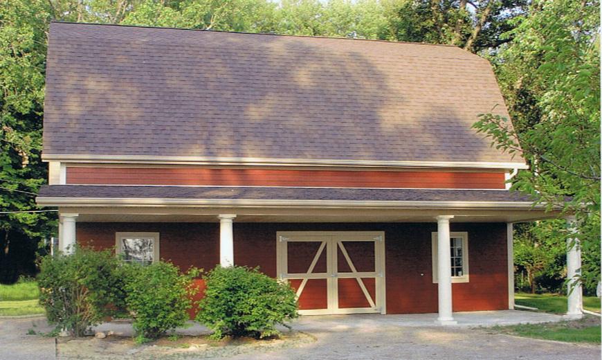Barn built to match house