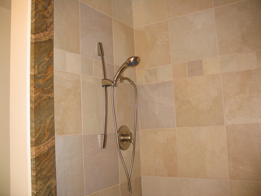 Natural stone and granite shower.