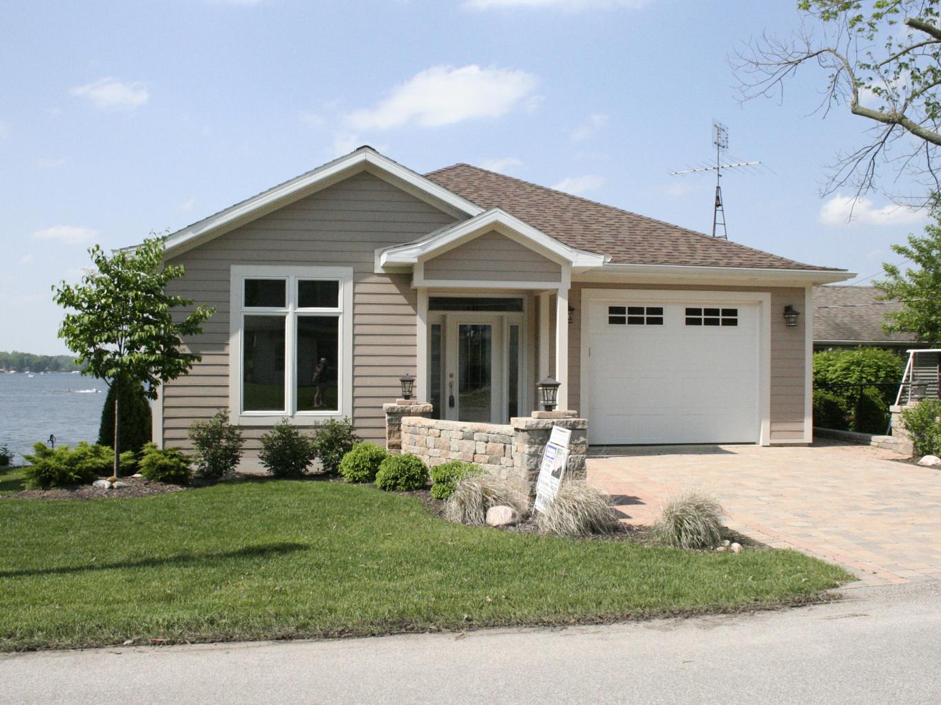 Custom built home in Clear Lake, IN