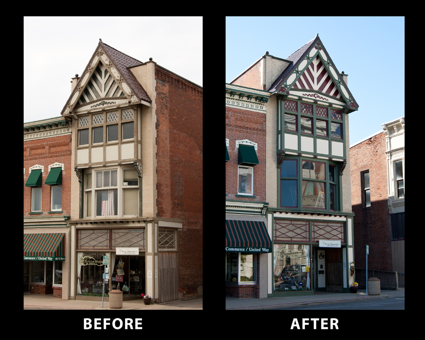 Repaint and restore front of historic building in downtown Napoleon, OH.