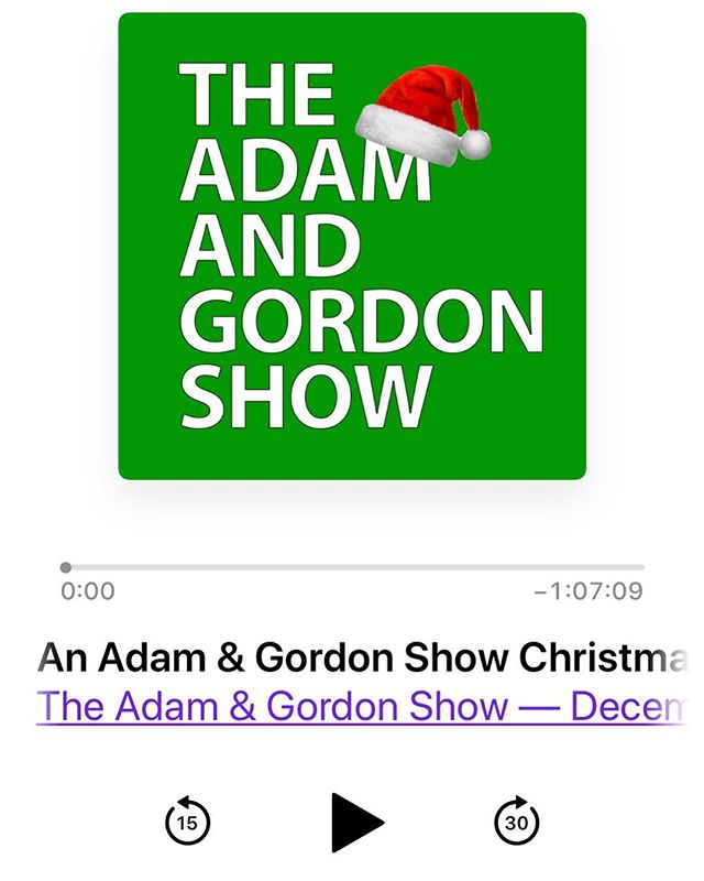 @gordon.rankin and I got you a present for Christmas! The Adam & Gordon Show Christmas special is available on iTunes now - link in bio!
