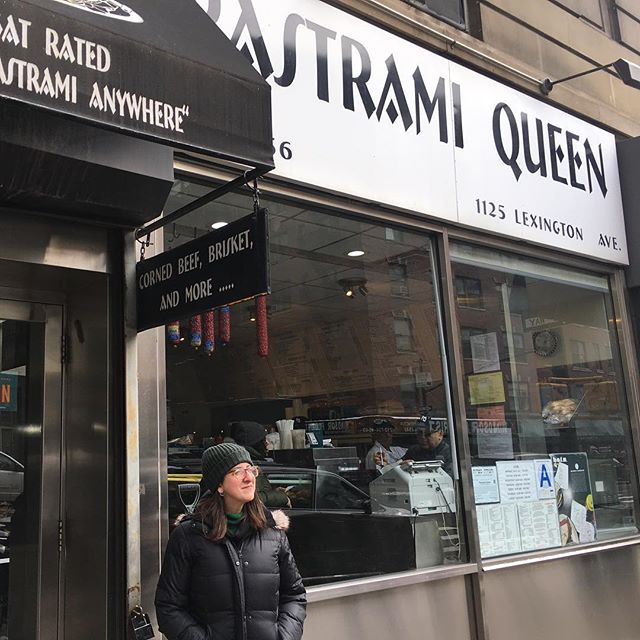 My pastrami queen. I guess that makes me the knish king. Now I'm hungry again. #pastramiqueen #ues #pastrami #jewishdeli