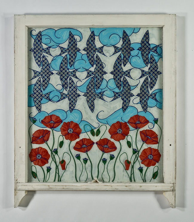Swallows and Poppies