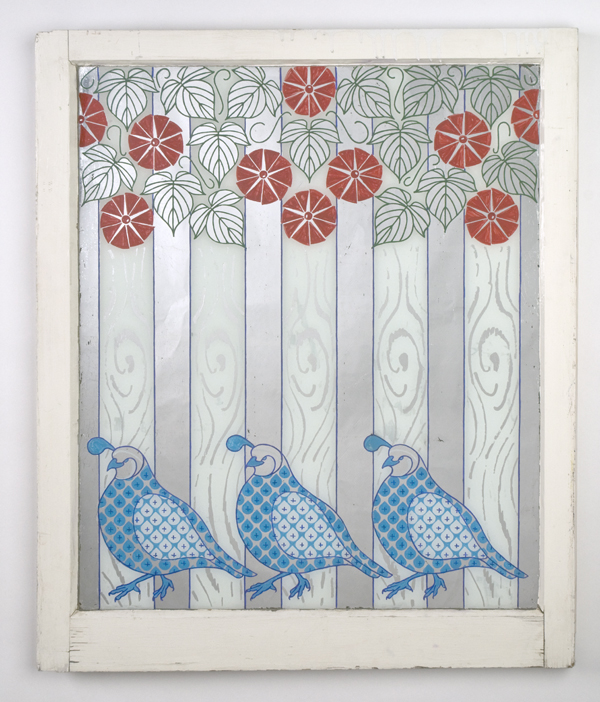 Quail and Morning Glories