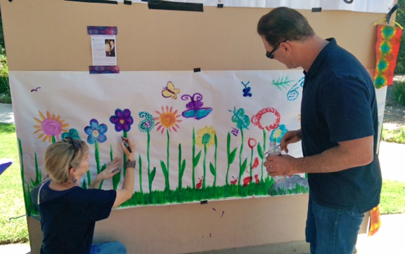 Patrick and Catherine even contributed to our Garden Painting!