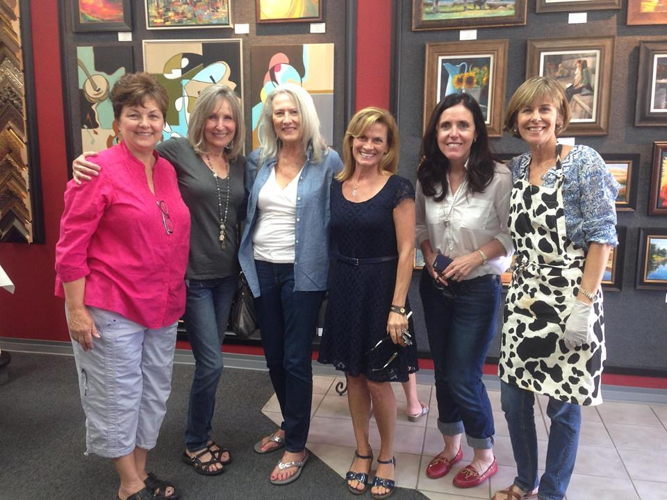 from left to right: Susan Ciufo, Peggy Ludington, Nicole D'Amore,Shannon Celia, Cindy Yeoman, and Wendy Gordin.