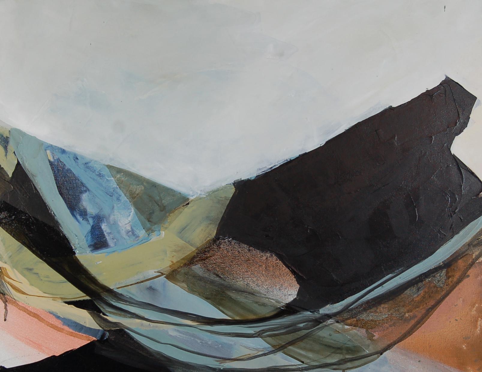 "1.5' x 2' Acrylic on Canvas  ""swimming upstream"""
