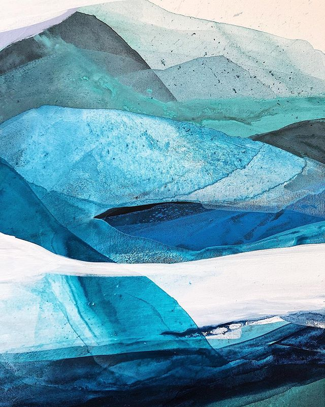 Details of a blue painting for an opening @thecaptainsdaughters opening July 26 on 384 commercial street, Provincetown MA . . . . . . . . . . . . . . . . . . . . . . . . . #vsco #vscocam #vscogood #paint #painter #art #artist #modernart #artbuyers #art_empire #showyourwork #landscape #acrylicpaint #me #creative #paintingprocess #studio #color #abstract #artistsofinstagram #boston #northshore #design #gallery #capecos #ptown