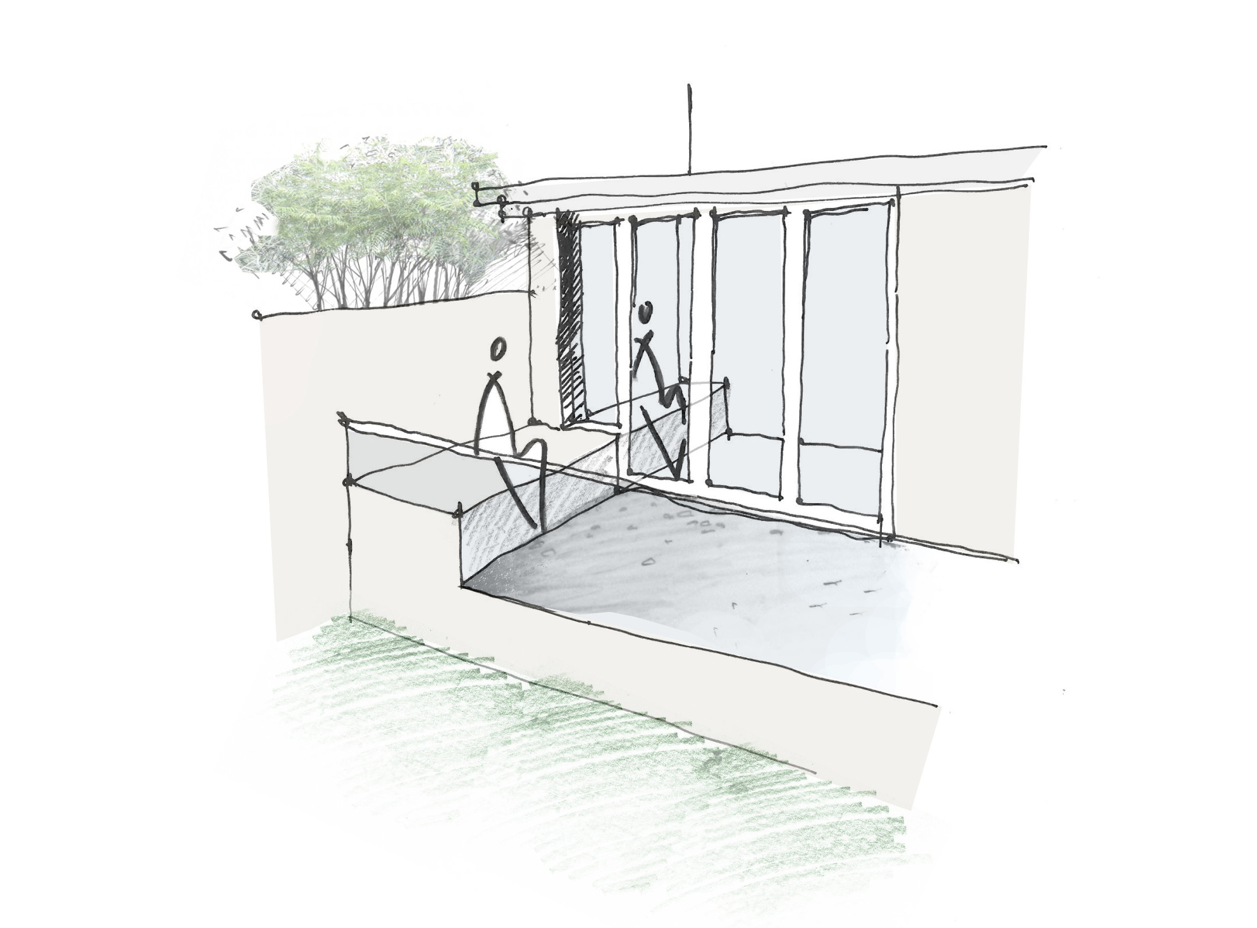 Linking Levels House Extension Seat Sketch.jpg